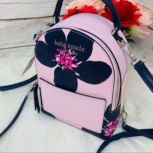 Kate spade mini convertible backpack floral pink